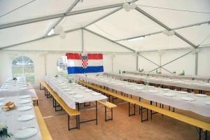 Unutarđnji izgled šatora za najam u zadru i zadarskoj županiji